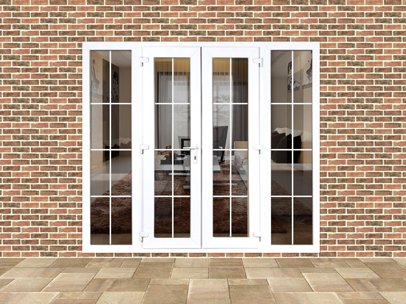 5ft upvc georgian french doors with 2 wide upvc side for 5 foot wide french patio doors