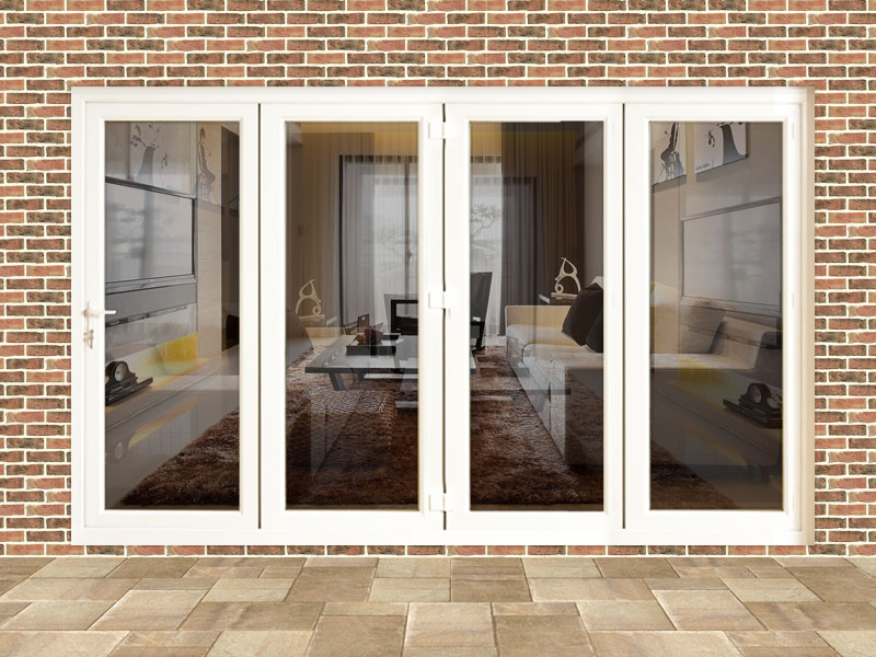 10ft white upvc folding doors flying doors for Upvc folding doors