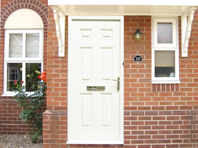 regency white 3ft composite front door set flying doors