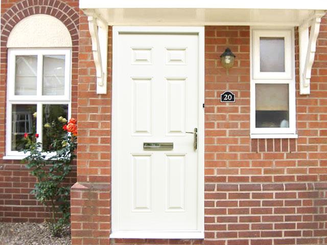 Regency White 3ft Composite Front Door Set Flying Doors