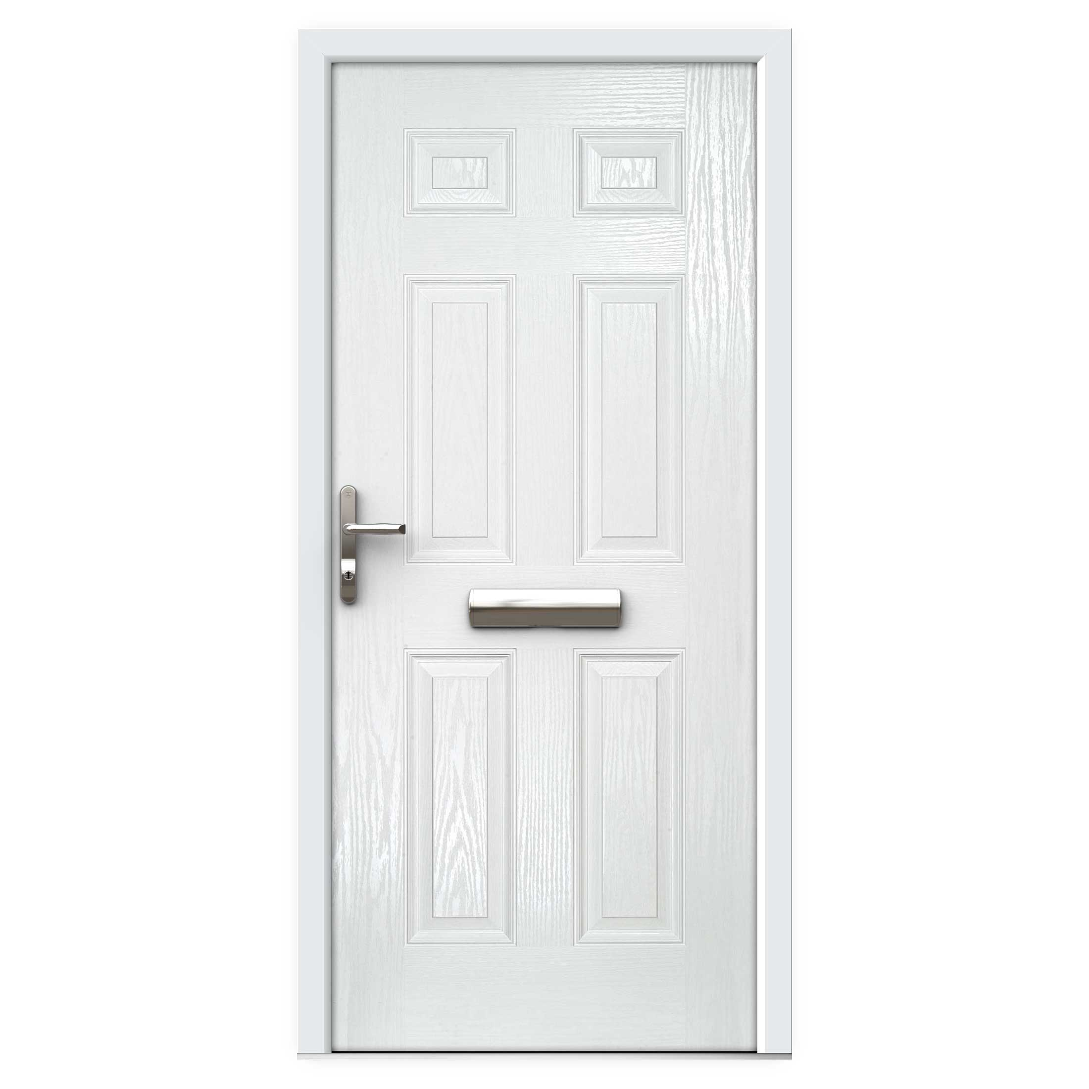 Write a review for White 6 Panel Composite Front Door | Flying Doors