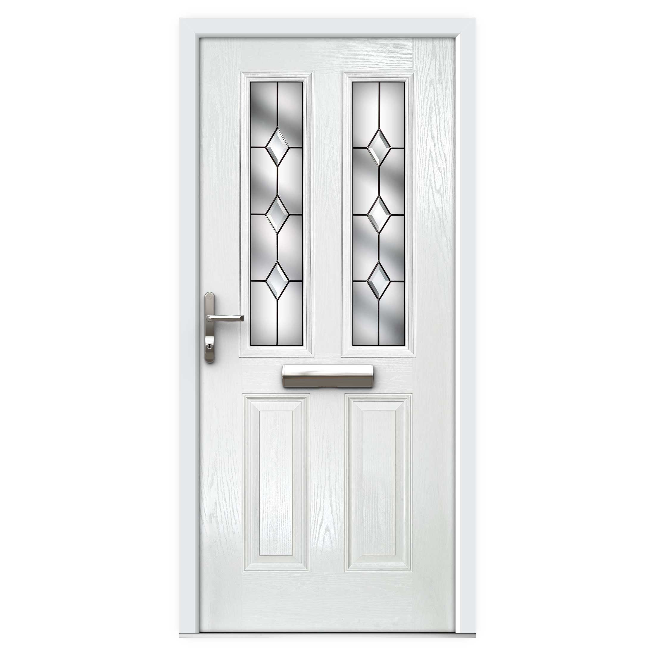 newest f94f4 5bd3f White Narrow Lite Composite Front Door