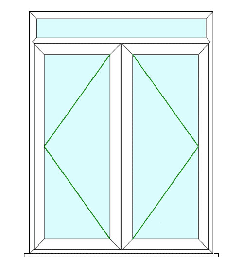 6ft upvc french door with top lite flying doors for Upvc french doors made to measure